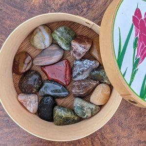 Tumbled unique&rare healing crystal gemstones box